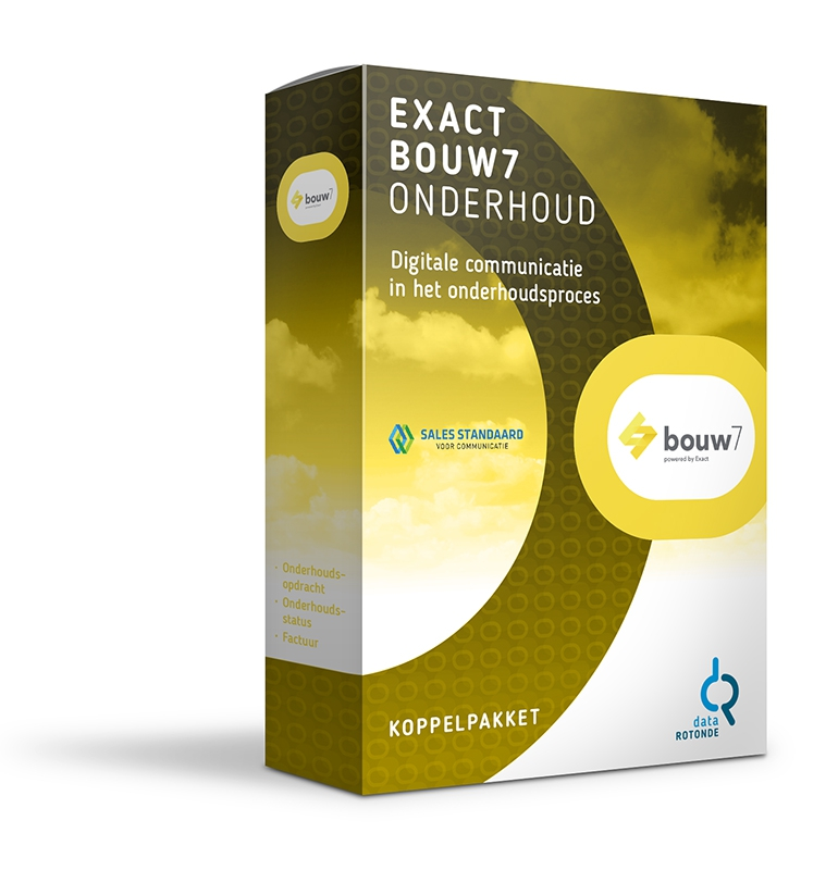 Datarotonde koppelpakket Exact Bouw7 onderhoud